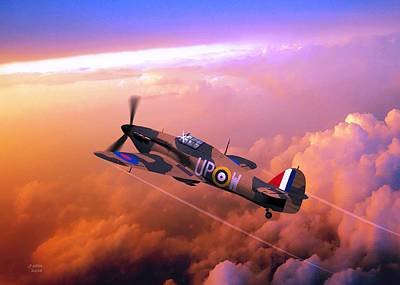 Digital Art - Hawker Hurricane British Fighter by John Wills