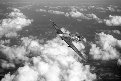 Art Print featuring the photograph Hawker Hurricane IIb Of 174 Squadron Bw Version by Gary Eason