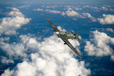 Art Print featuring the photograph Hawker Hurricane IIb Of 174 Squadron by Gary Eason