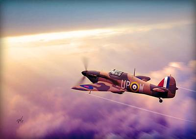 Digital Art - Hawker Hurricane by John Wills