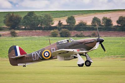 Photograph - Hawker Hurricane Landing by Gary Eason