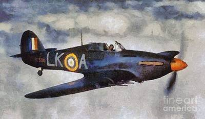 Hurricane Painting - Hawker Hurricane, Wwii by Mary Bassett