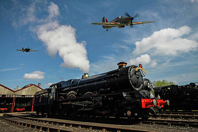 Photograph - Hawker Hurricanes Beating Up A Goods Yard by Ken Brannen