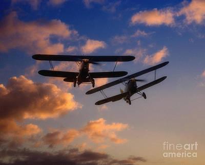 Bi Plane Digital Art - Hawker Nimrod Bi-planes by Nigel Bangert