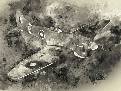 Painting - Hawker Tempest - 01 by Andrea Mazzocchetti