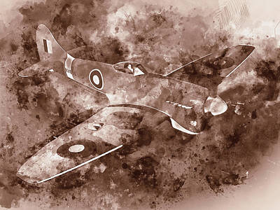 Painting - Hawker Tempest - 02 by Andrea Mazzocchetti