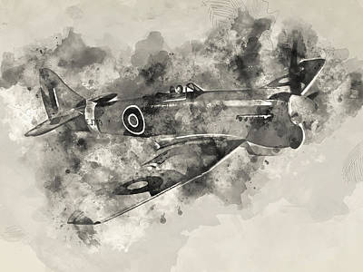 Painting - Hawker Tempest - 03 by Andrea Mazzocchetti