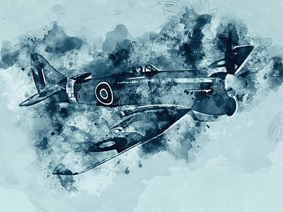 Painting - Hawker Tempest - 04 by Andrea Mazzocchetti