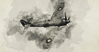 Painting - Hawker Tempest - 05 by Andrea Mazzocchetti