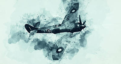 Painting - Hawker Tempest - 06 by Andrea Mazzocchetti