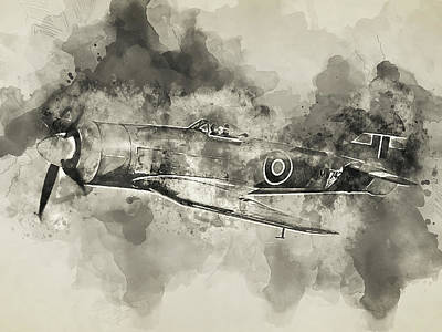 Painting - Hawker Tempest - 07  by Andrea Mazzocchetti