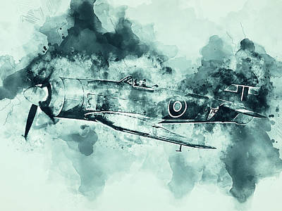 Painting - Hawker Tempest - 08 by Andrea Mazzocchetti