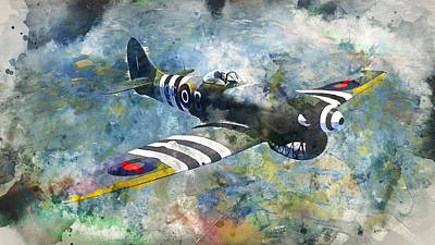 Painting - Hawker Tempest - 09 by Andrea Mazzocchetti