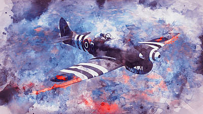 Painting - Hawker Tempest - 10 by Andrea Mazzocchetti