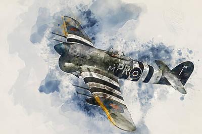 Painting - Hawker Typhoon - 03  by Andrea Mazzocchetti