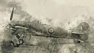 Painting - Hawker Typhoon - 04 by Andrea Mazzocchetti