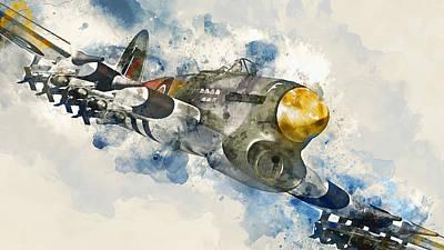 Painting - Hawker Typhoon - 05 by Andrea Mazzocchetti