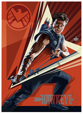 Comics Royalty-Free and Rights-Managed Images - Hawkeye Concept  by Garth Glazier