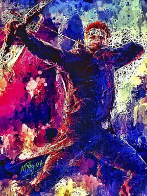 Mixed Media - Hawkeye by Al Matra