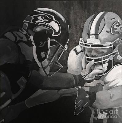 Hawks And 49ers Art Print by Courtney Cooper
