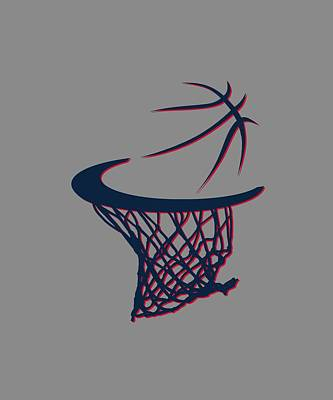 Hawks Basketball Hoop Art Print by Joe Hamilton