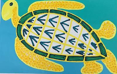 Painting - Hawks Bill Sea Turtle by Matthew Brzostoski