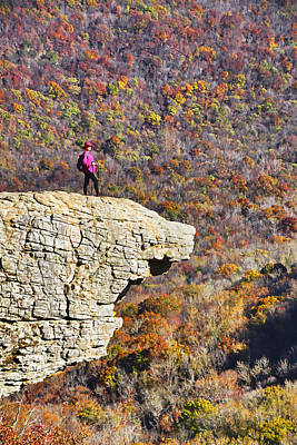 Hawksbill Crag In Autumn Art Print by Dennis Cox WorldViews