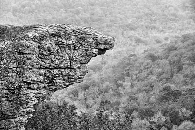 Photograph - Hawksbill Crag In Black And White by JC Findley