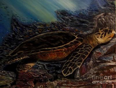 Painting - Hawksbill Turtle by Isabel Honkonen