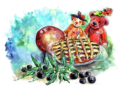 Painting - Haworth Bilberry Pie For The Berry Ladies From Newby Hall by Miki De Goodaboom