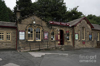 Photograph - Haworth Railway Station by David  Hollingworth