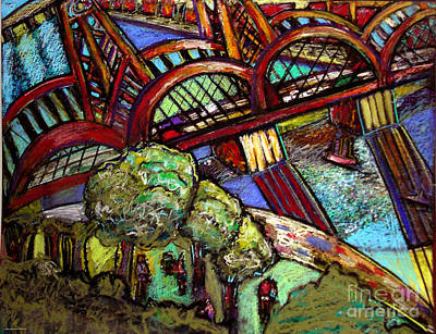 Hawthorne Bridge 2 Art Print by Angelina Marino