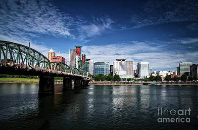 Photograph - Hawthorne Bridge And West Side Of Portland by Bruce Block