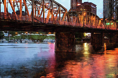 Photograph - Hawthorne Bridge At Last Light by Thom Zehrfeld