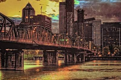 Photograph - Hawthorne Bridge At Sunset  by Thom Zehrfeld
