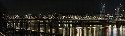 Gigapan Photograph - Hawthorne Bridge Portland Or by Les Clemens