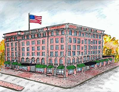 Drawing - Hawthorne Hotel by Paul Meinerth