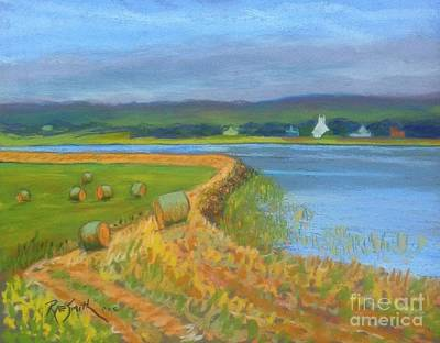 Pastel - Hay Along The Annapolis  by Rae  Smith PAC