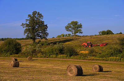Country Scene Photograph - Hay Bale Season by Karol Livote