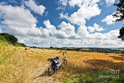 Photograph - Hay Bales And A Bike by Terri Waters