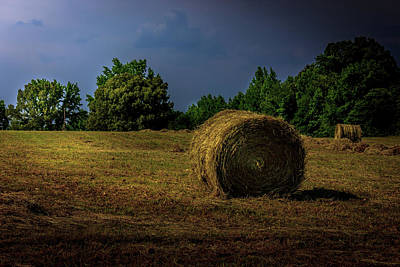 Photograph - Hay Bales In The Landscape by Barry Jones