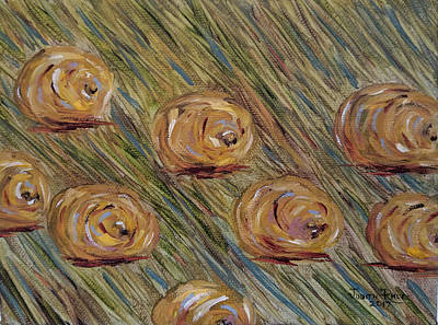 Painting - Hay Bales by Judith Rhue