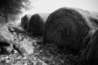Hay Bales Paxton Ma Art Print by Richard Danek