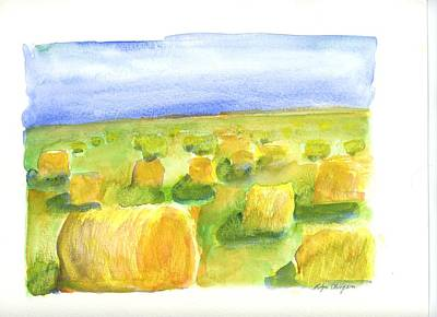 Painting - Hay Bales by Rodger Ellingson
