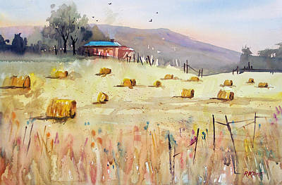 Hay Bales Art Print by Ryan Radke