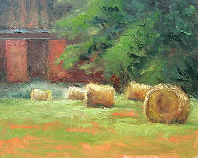 Painting - Hay Bales by Sharon Weaver