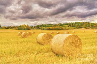 Hay Bales Original by Veikko Suikkanen