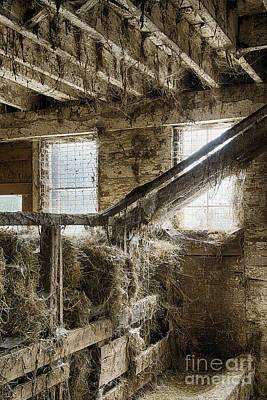 Rustic Barn Interior Photograph - Hay Barn by John Greim