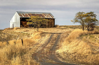 Gravel Road Photograph - Hay Barn Near Gifford Idaho by Brad Stinson