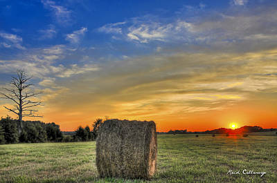 Hay Down Sunset Art Print